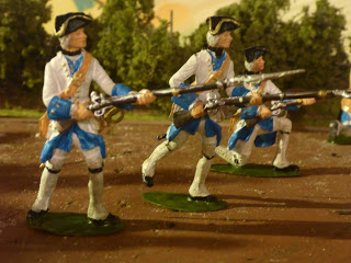 French regulars toy soldiers 54mm 1:32 War Austrian Succession SYW FIW